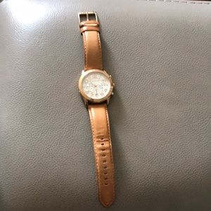 Michael Kors leather band women's watch